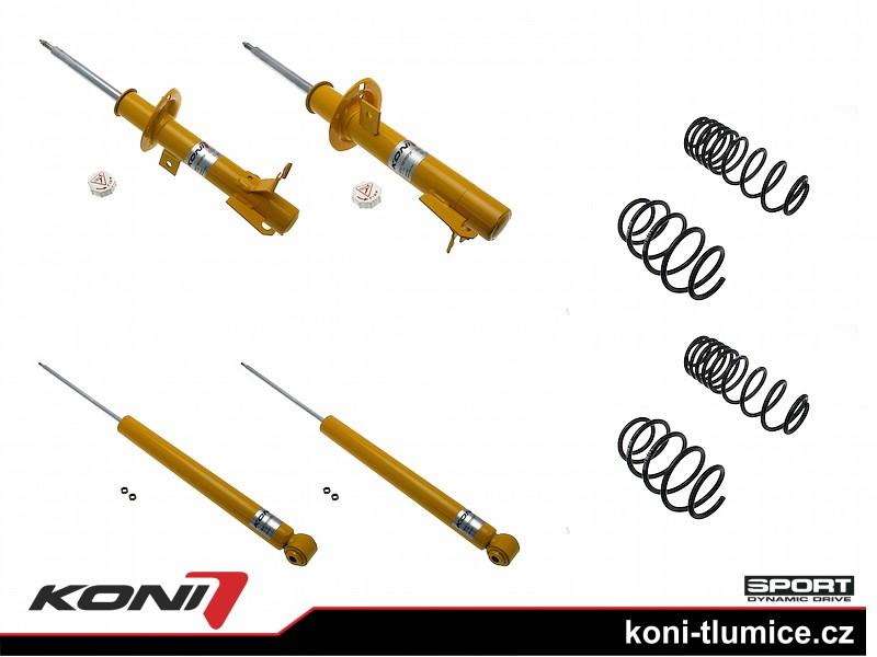 Koni podvozek Ford Fiesta V Sport rok 04.02-08 - 1140-3172 (4tlumiče+pružiny -25-30/-25-30mm)